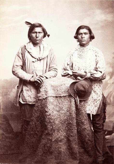 Apaches and Navajos Attack Wagon Train at Wild Rose Pass