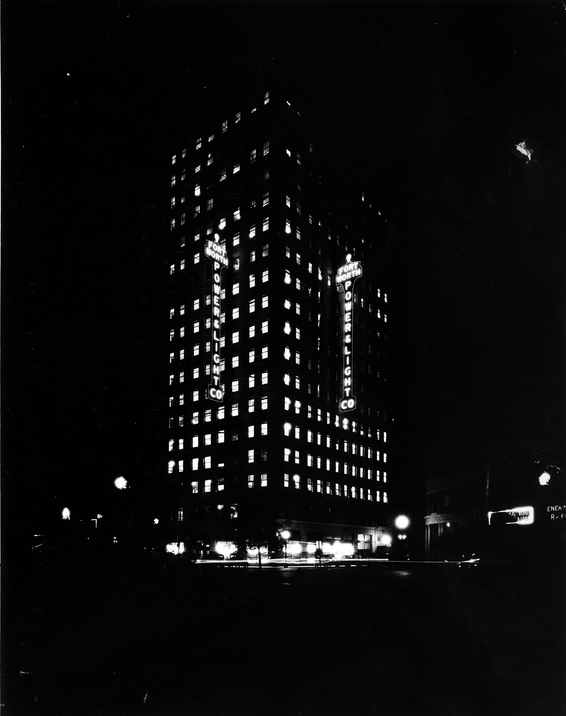 Electric Building Fort Worth And Light Company At