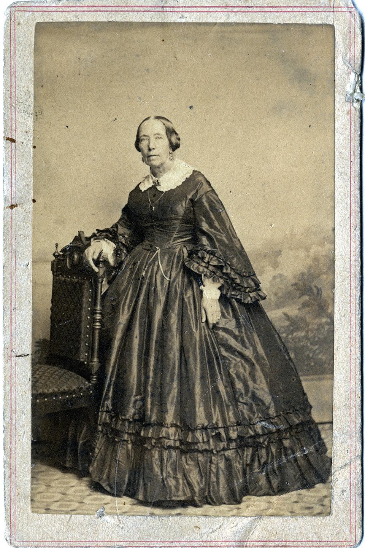Carte De Visite Of Mrs Franklin Chase Anne McClaremonde