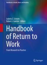 Handbook of Return to Work book cover