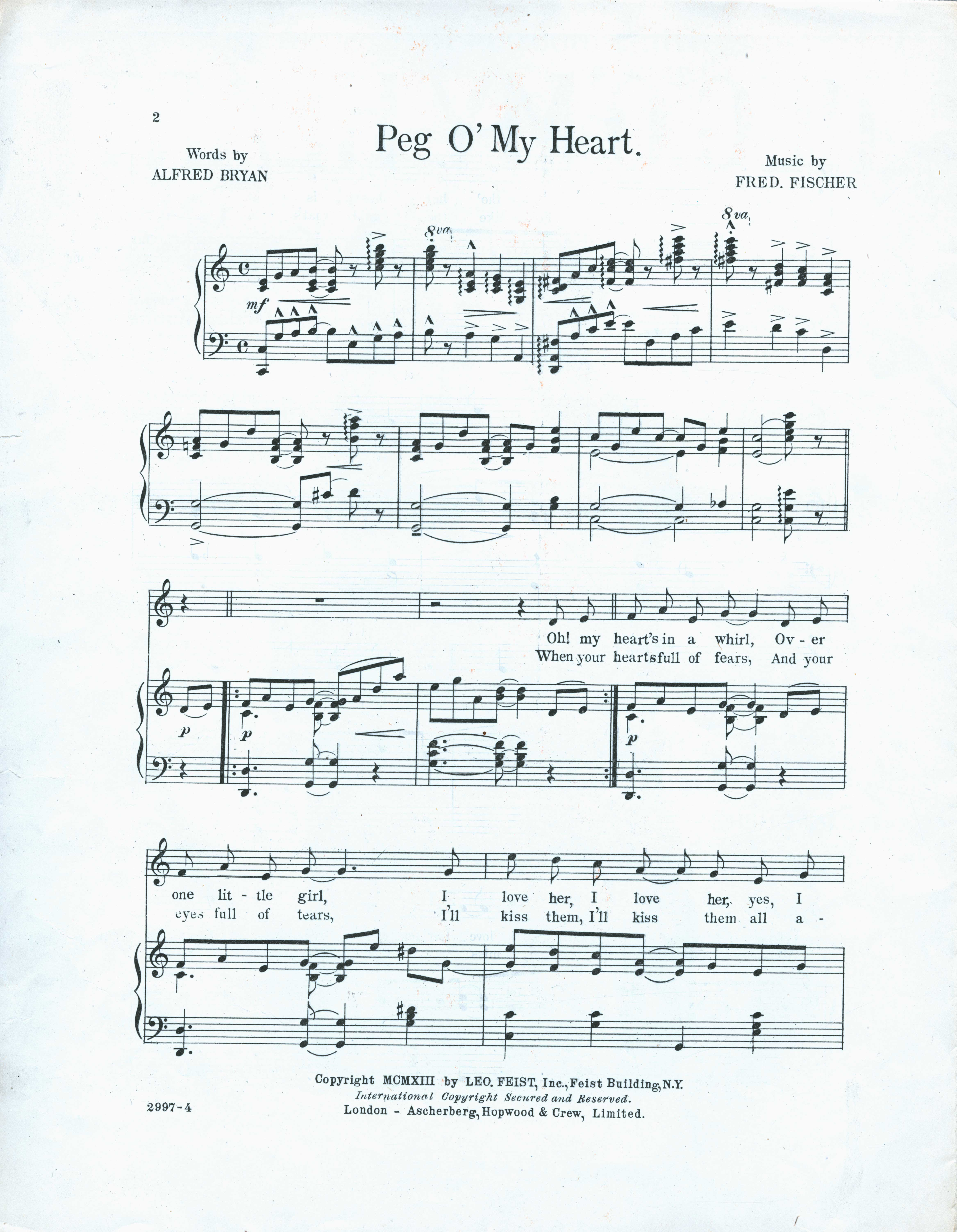 Peg omy heart sheet music sm0071p02xg ccuart Image collections