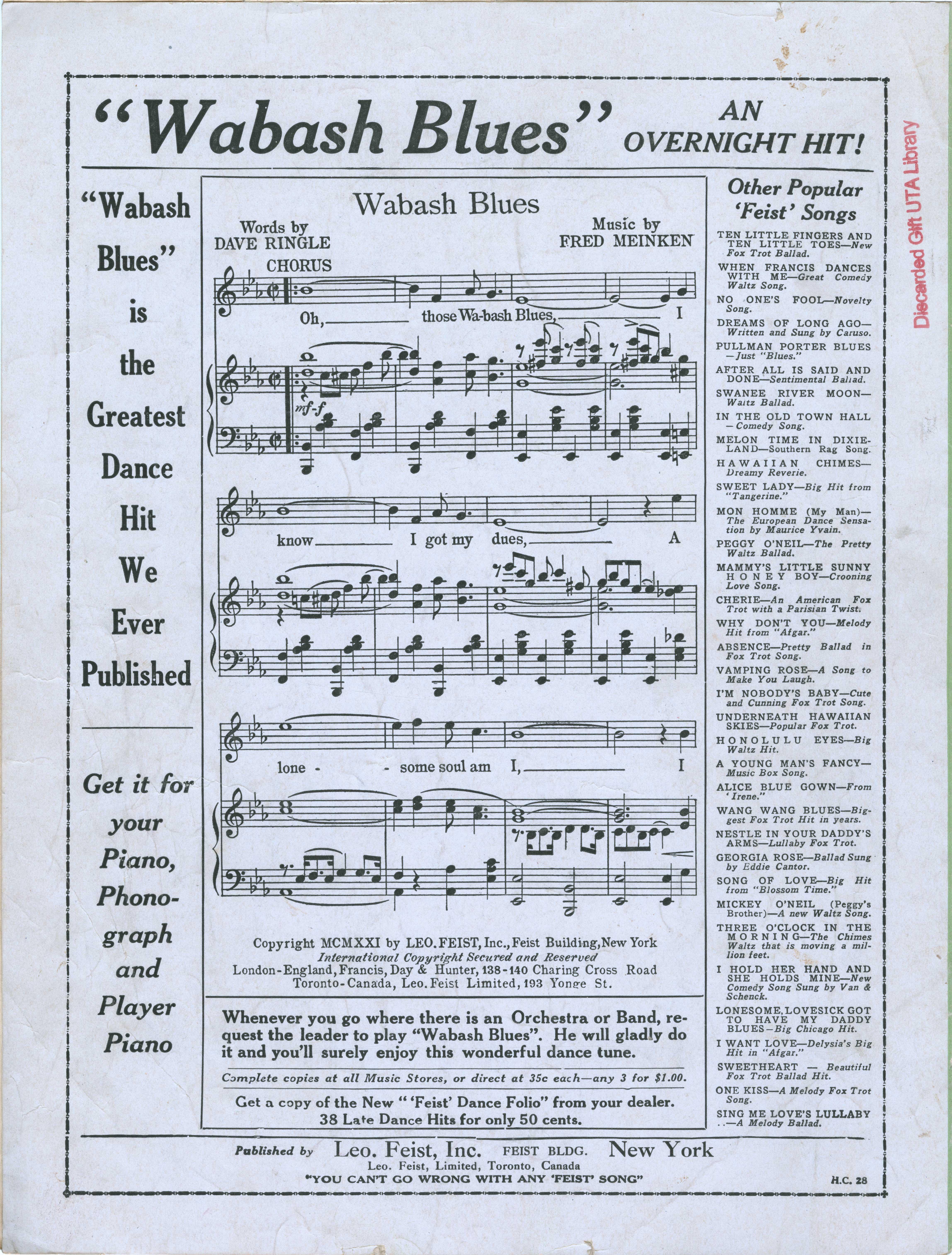 [CDATA[Sheet Music]]