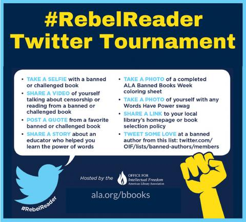 #RebelReader Twitter Tournament poster
