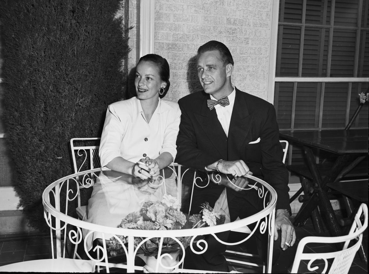 Faye Emerson and Elliott Roosevelt