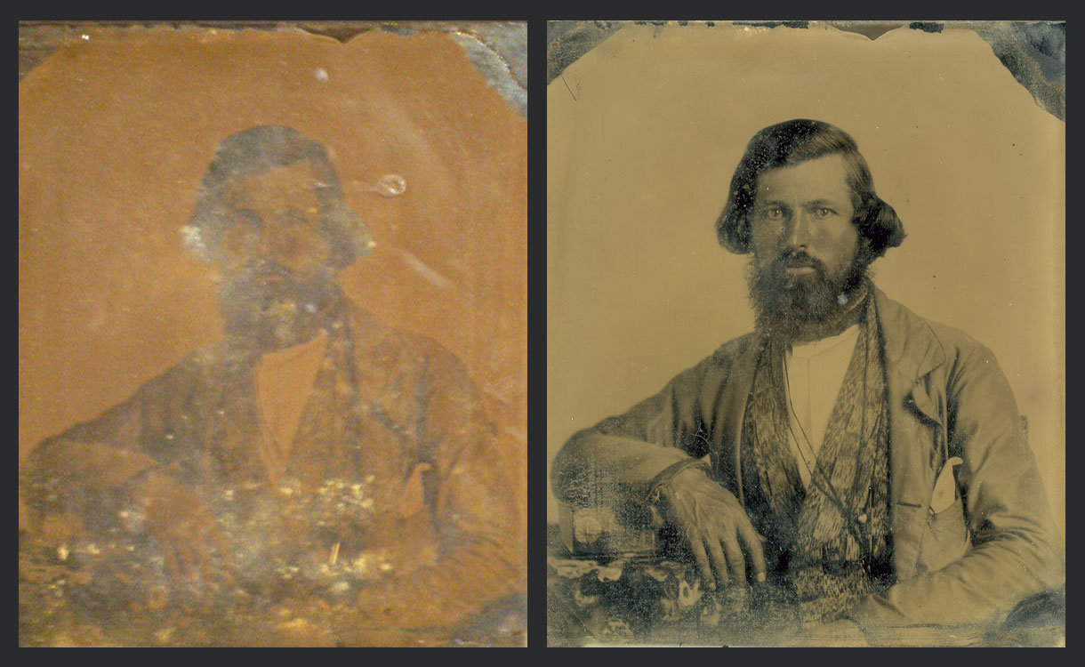 before and after restoration of photo