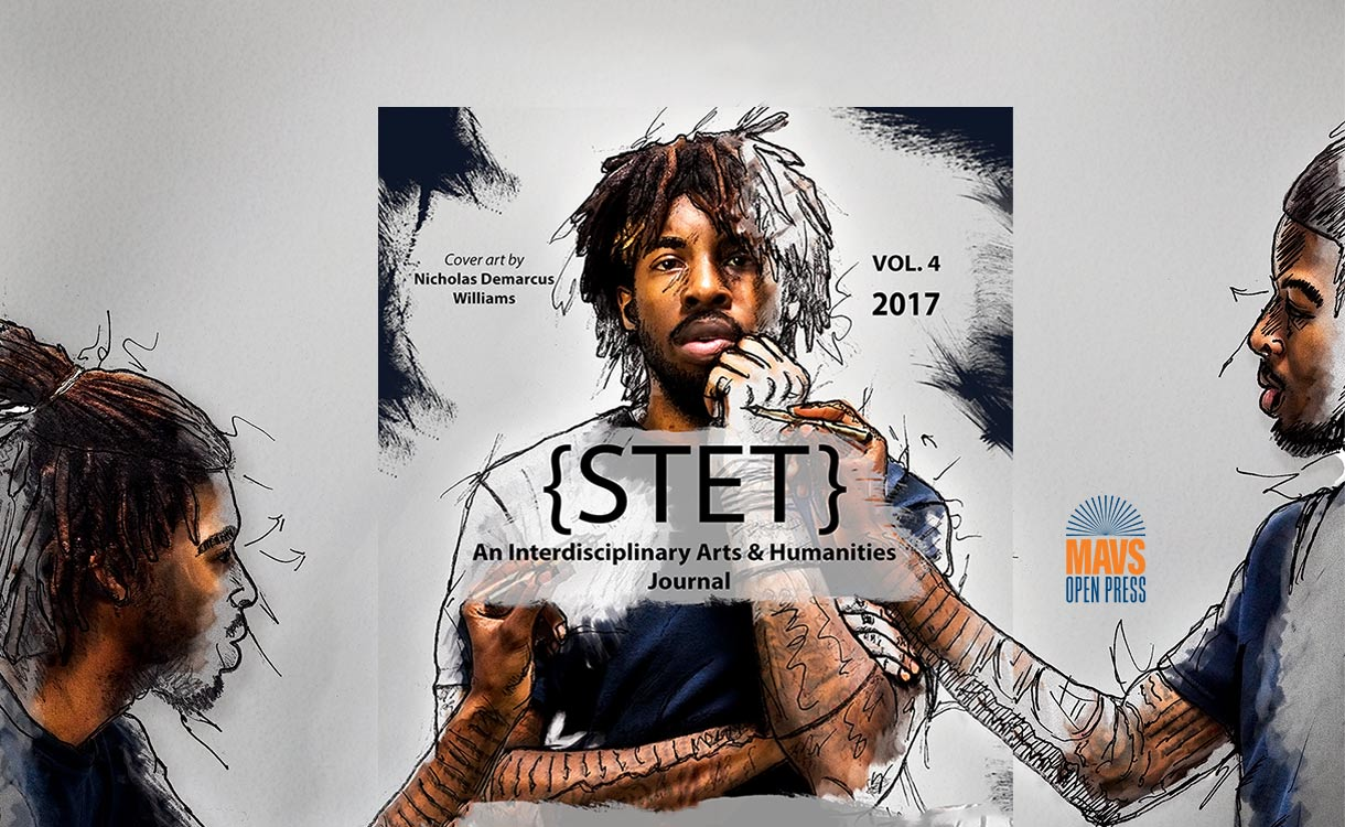 cover of {stet}, an interdisciplinary arts and humanities journal