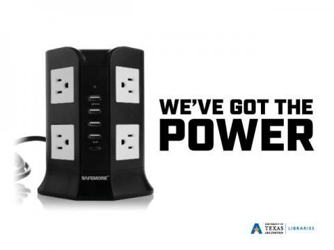"""Four outlet power unit. """"We've got the power"""""""