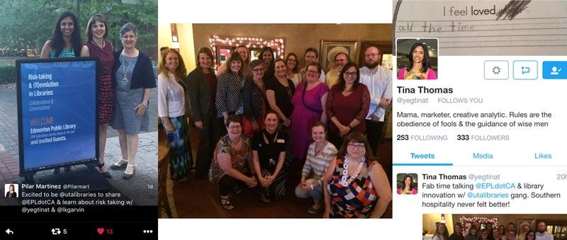 photos taken during EPL's visit to UTA Libraries
