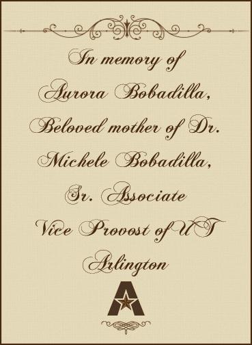 In memory of Aurora Bobadilla