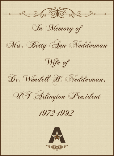 In memory of Betty Nedderman