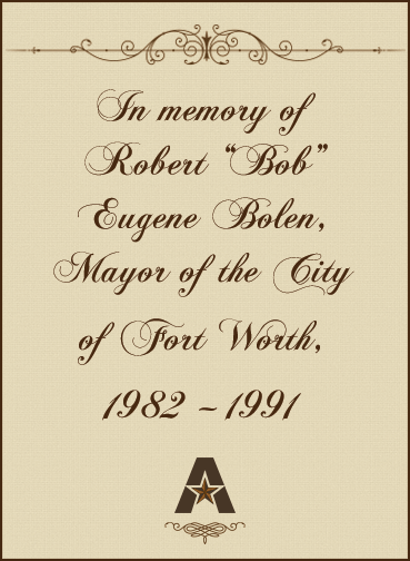 In memory of Bob Bolen