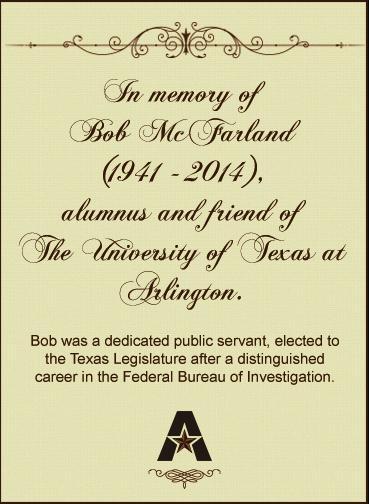In memory of Bob McFarland