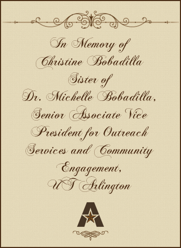 In memory of Christine Babadilla