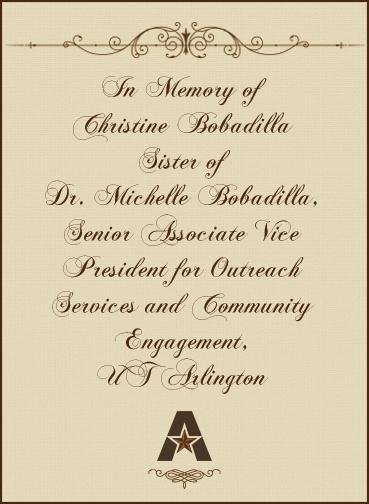In memory of Christine Babadilla