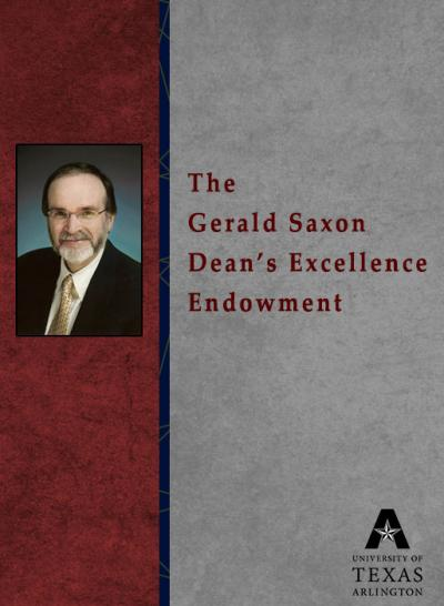 The Gerald Saxon Dean's Excellence Endowment