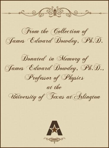 In memory of Edward Dowdey