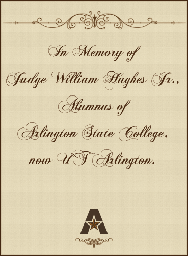 In memory of Judge William Hughes, Jr.