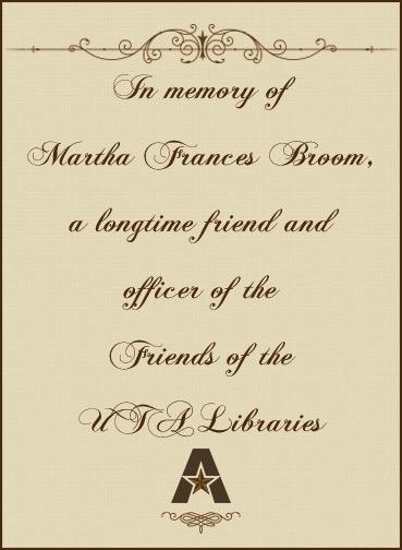 In memory of Martha Broom
