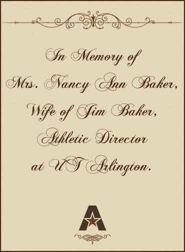 In memory of Nacy Baker bookplate
