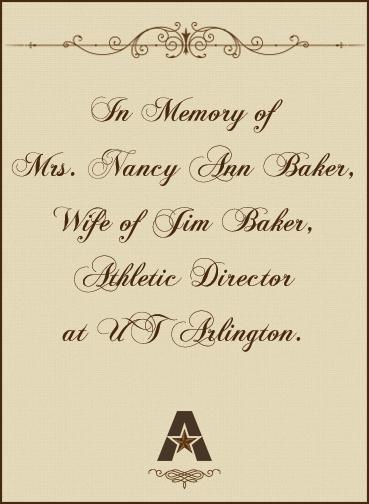 In memory of Nacy Baker bookplate