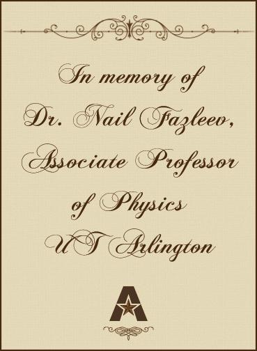 In memory of Dr. Fazleev