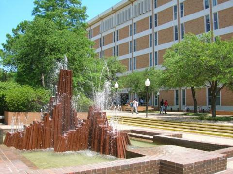Central Library with fountain in front