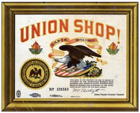"""Union Shop"" sign"