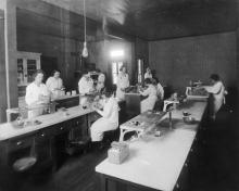 Cooking laboratory at Grubbs Vocational College, early 1920s