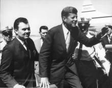 State Representative Don Kennard with President John F. Kennedy, November 22, 1963