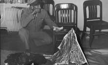 General Ramey with Roswell debris