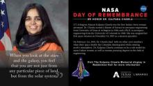 NASA Day of Remembrance poster for Kalpana Chawla