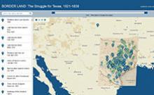 screen shot of Border Land website