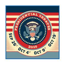 Presidential debate poster