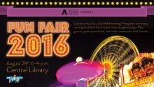 Library Fun Fair 2016 poster