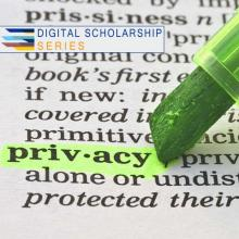 highlighter on dictionary definition of privacy