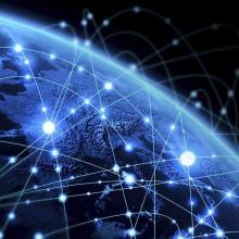 points of light on a globe