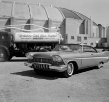 old photo of car from 1950s