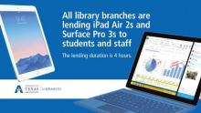 iPad Airs and Surface Pros available for checkout