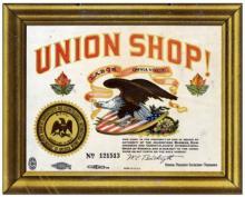 """""""Union Shop"""" sign"""