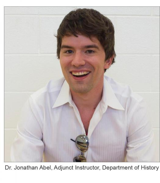 Dr. Jonathan Abel, Adjunct Instructor, Department of History