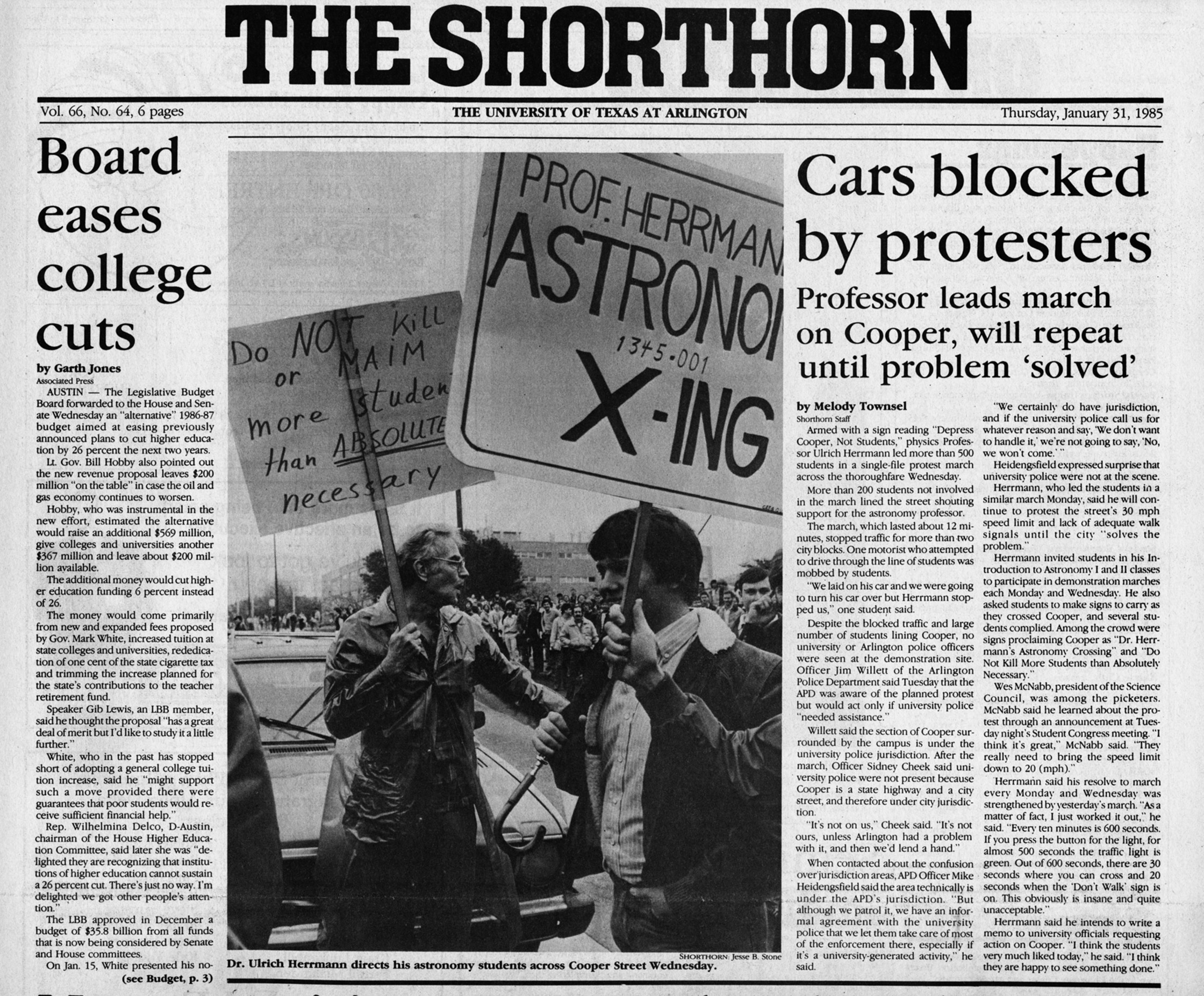 Arlington Tx News >> Cars Blocked By Protesters Texas Disability History Collection