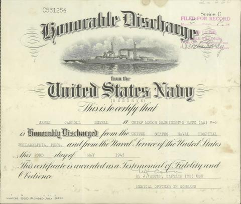 military discharge papers