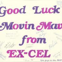 Good Luck card signed by members of EX-CEL