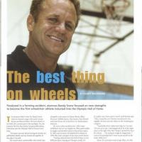 magazine article with picture of UTA athlete and Paralympian Randy Snow