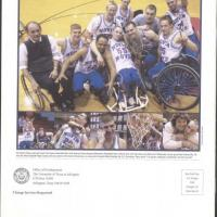 Back cover of UTA Magazine with photos of the 2002 members of the Movin' Mavs
