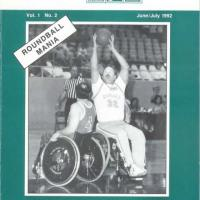 cover of Wheelchair Basketball World magazine from 1992