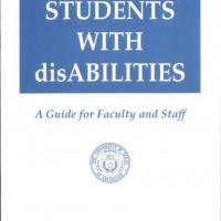 cover of guide for UTA faculty and staff on managing the requirements of the Rehabilitation Act of 1973