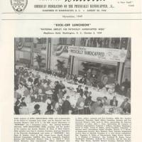 cover of November 1949 edition of the AFPH Bulletin