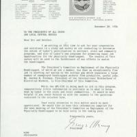 Memo from George Meany to The Presidents of All State and Local Central Bodies