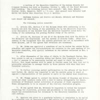 first page of minutes of the Executive Committee meeting